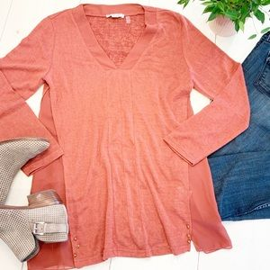 SIMPLY NOELLE Polyester Long Sleeve Blouse-S/M